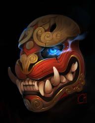 Tiger mask sketch