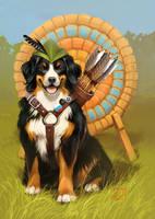 archer's dog 2 by GaudiBuendia