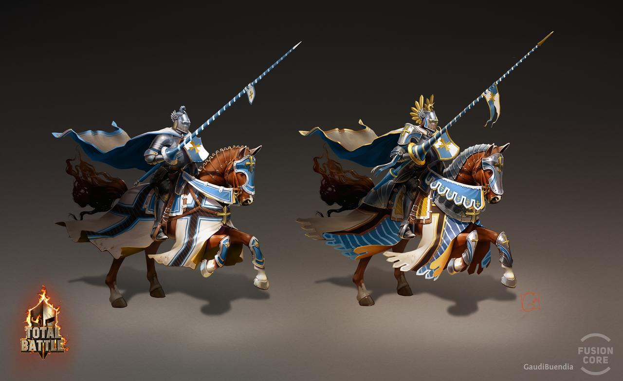 Tournament knight by GaudiBuendia