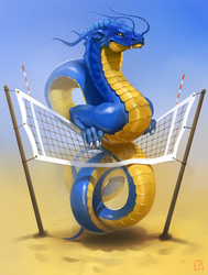 blue_and_yellow dragon by GaudiBuendia