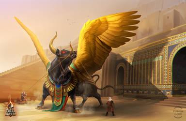 winged bull by GaudiBuendia