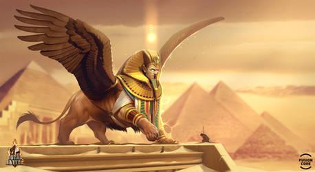 sphinx. winged eternity by GaudiBuendia