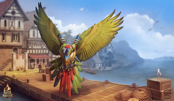 battle parrot by GaudiBuendia