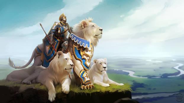 lion  knight by GaudiBuendia