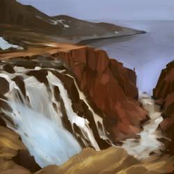 north waterfall by GaudiBuendia
