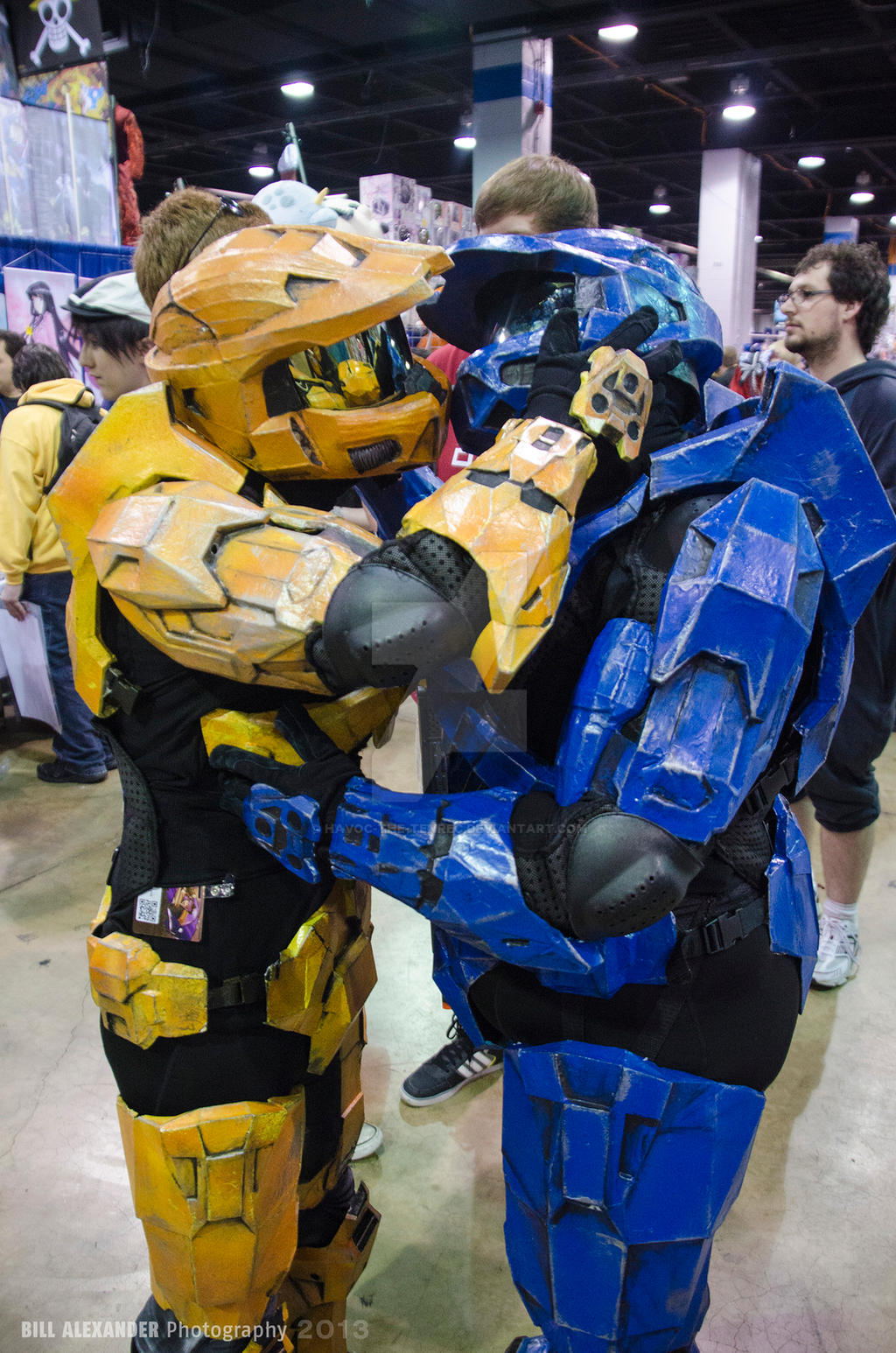 Acen 2013 - Halo Spartans Kiss by Havoc-The-Tenrec