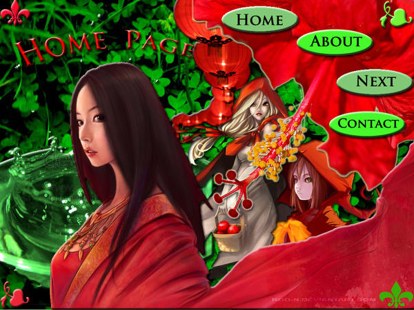 Red Women's with Green Land by LordMaru4U