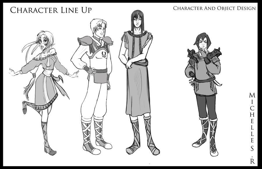 Character Line Up by LordMaru4U