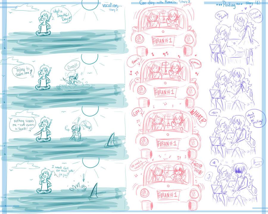 Francis et Michi Adventures by LordMaru4U