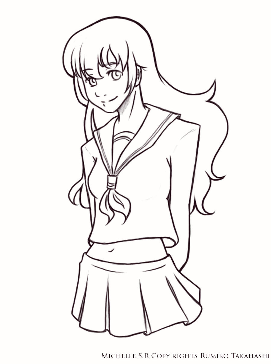 Kagome Line Art by LordMaru4U