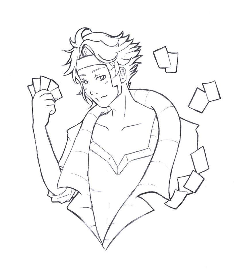 Gambit Line Art by LordMaru4U