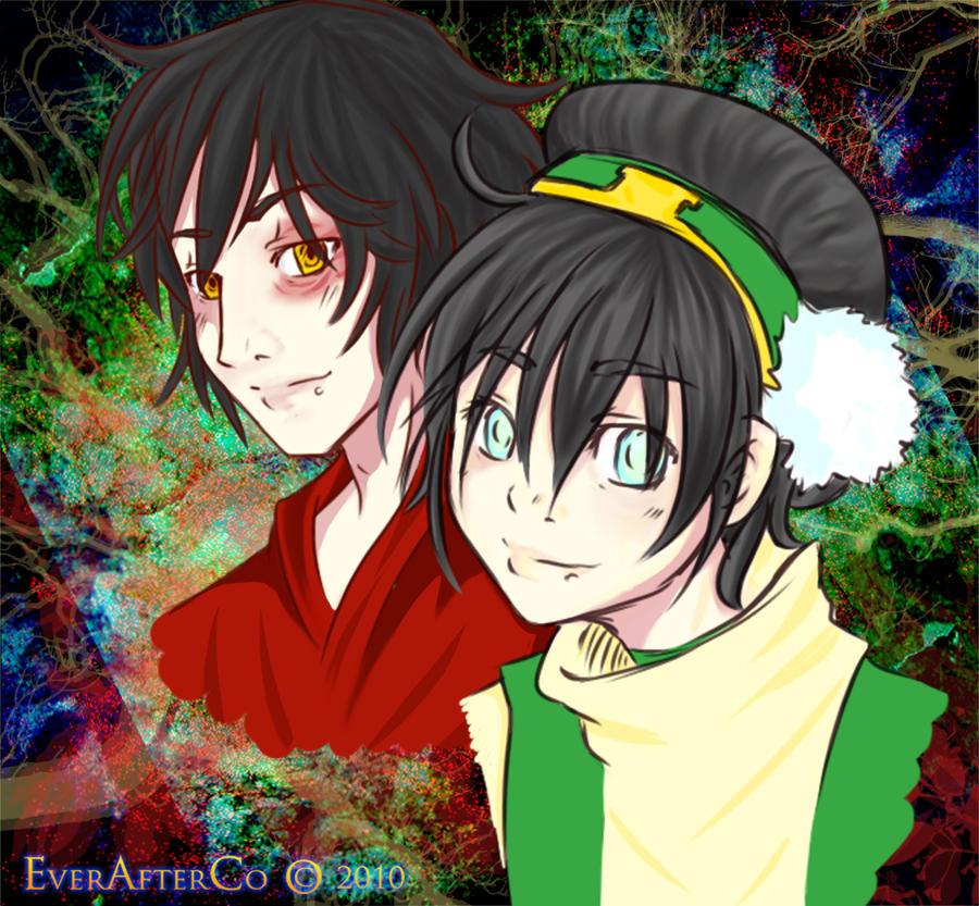 Toph and Zuko by LordMaru4U