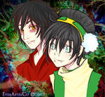 Toph and Zuko