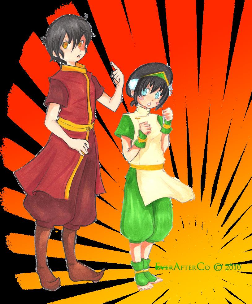 Zuko and Toph Rumble by LordMaru4U