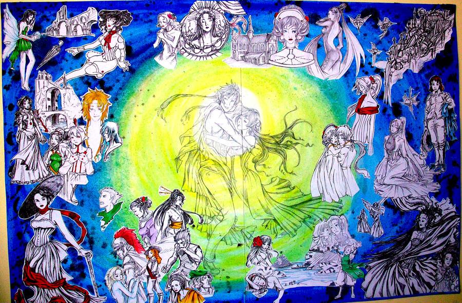 Full Canvas: Reflections by LordMaru4U