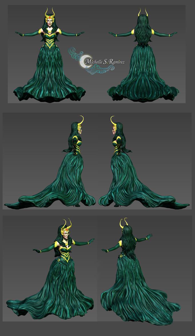 Lady Loki 3D Model by LordMaru4U