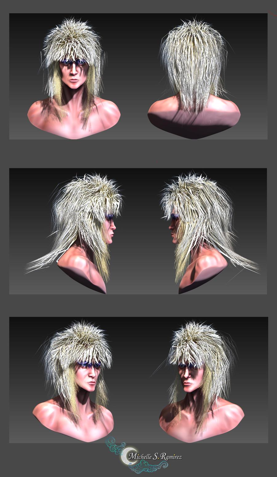 David Bowie 3D Modeling by LordMaru4U