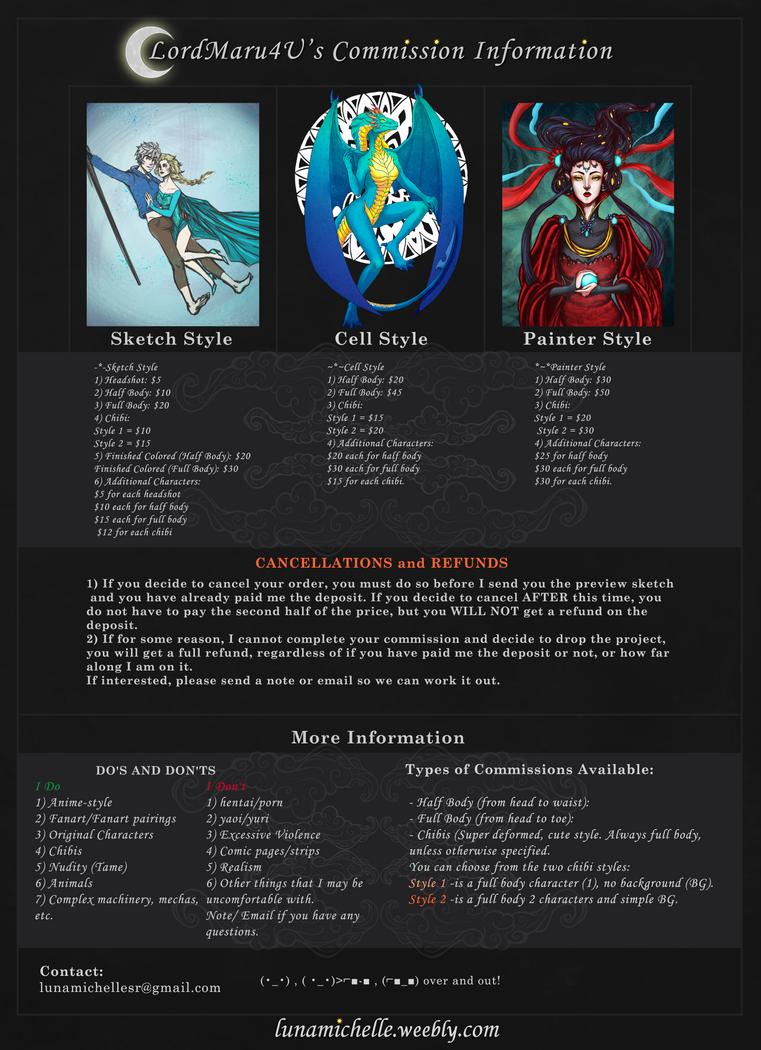 Commission Information by LordMaru4U