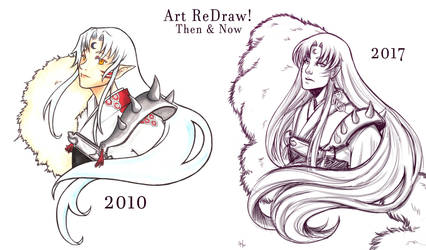 Art ReDraw Sesshomaru by LordMaru4U