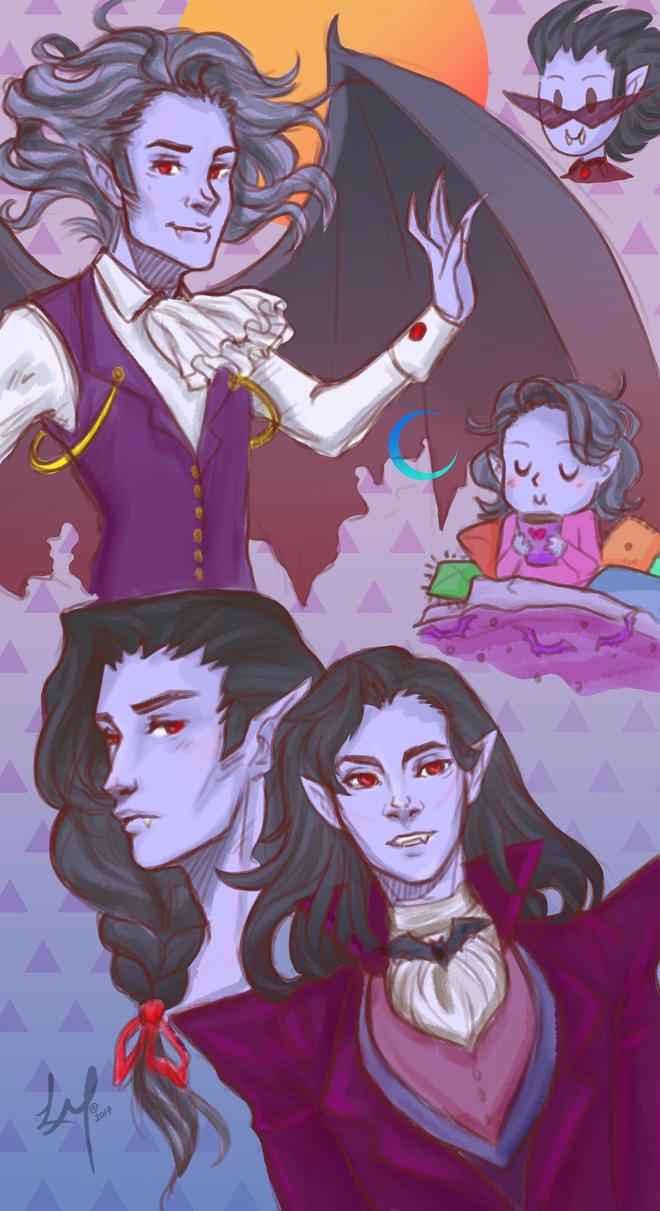 Fun ideas of Swag Dracula w/ color by LordMaru4U
