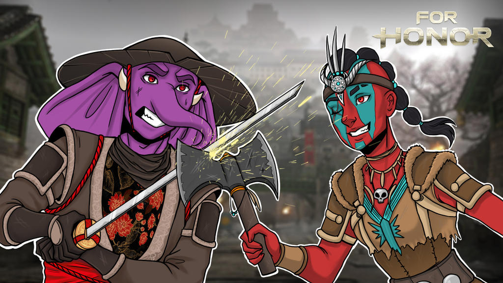 For Honor Gorillaphent vs. Cartoonz Thumbnail by LordMaru4U