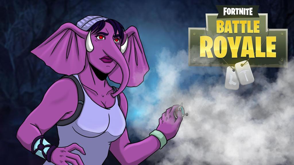 Fortnight Gorillaphent Female smoke bomb by LordMaru4U
