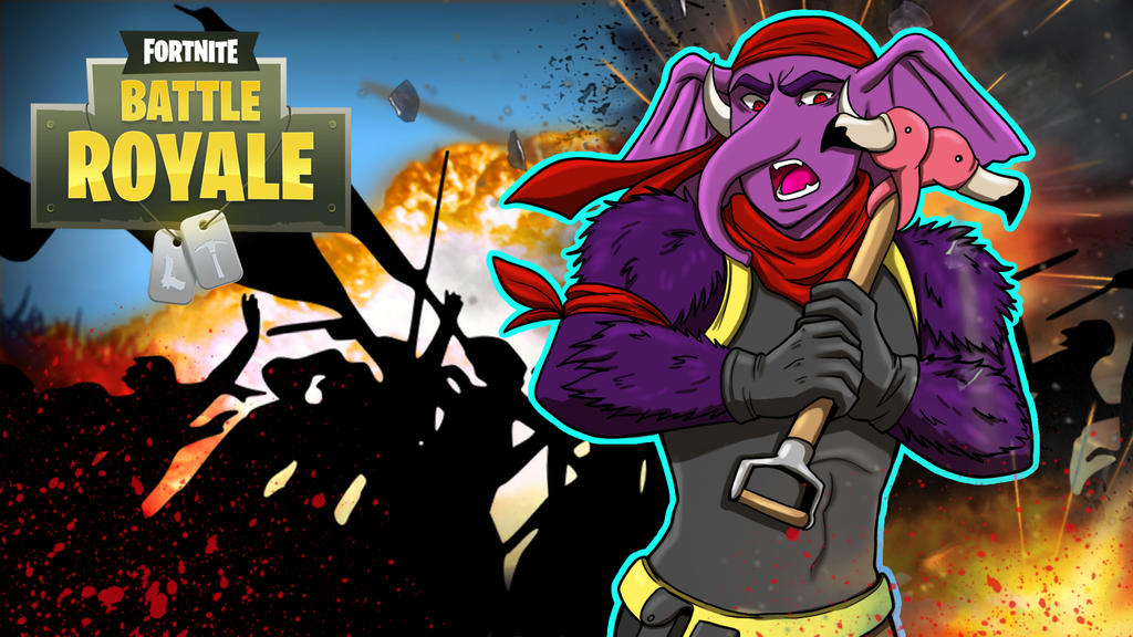 Fortnite BR Gorillaphent vs 50ppl by LordMaru4U