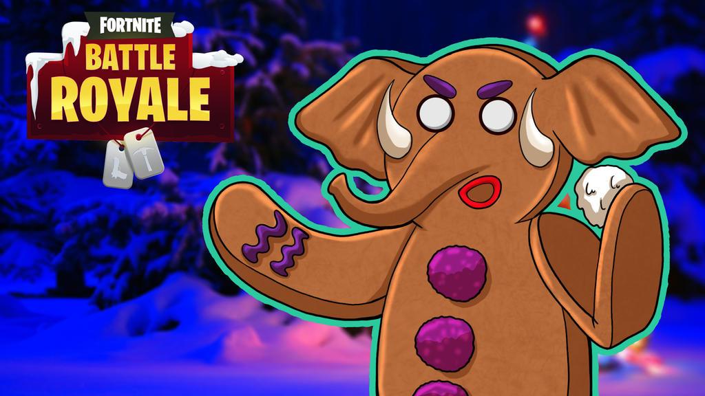 Fortnite BR Gorillaphent the Gingerbreadman by LordMaru4U