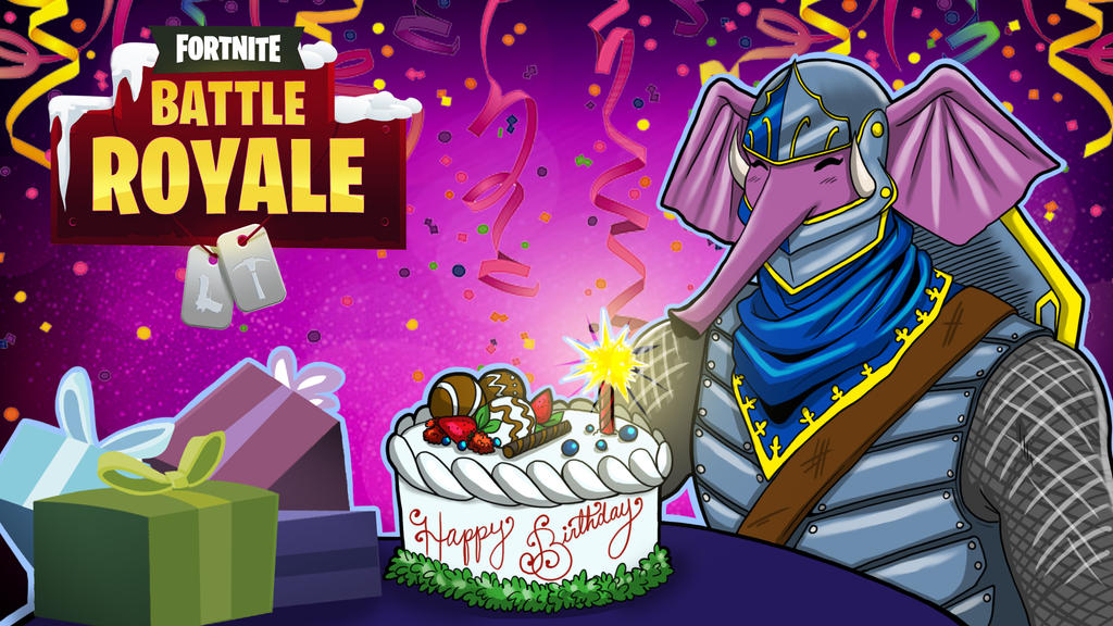 Fortnite BR Gorillaphent Birthday by LordMaru4U