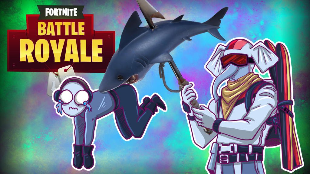 Fortnite BR Shark bite by LordMaru4U