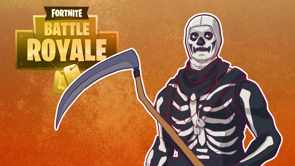 Fortnite BR Skull Thumbnail by LordMaru4U