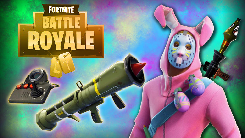 Fortnight BG Easterbunny 2guns by LordMaru4U