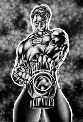 green lantern - jim lee homage