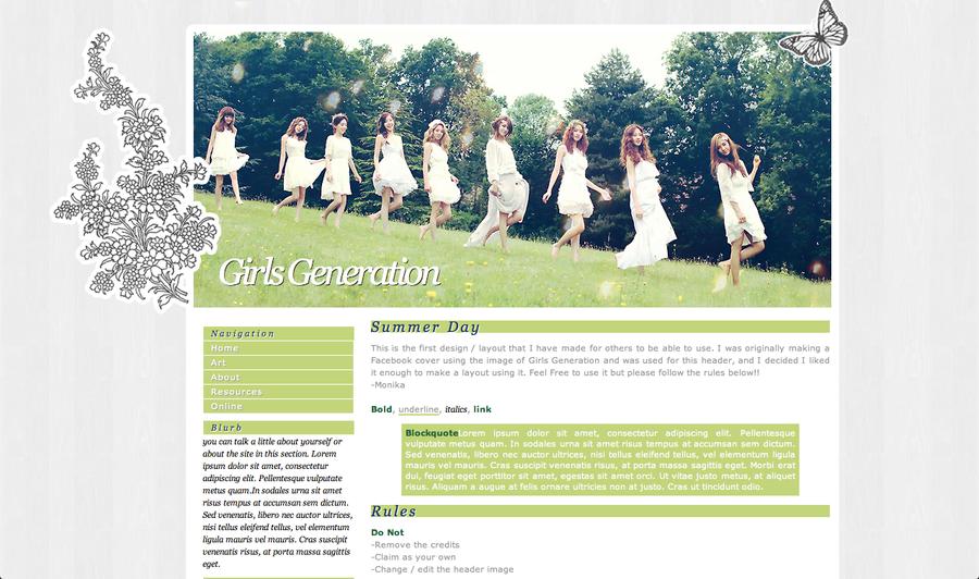 Girls Generation Web Design by euphoriclover