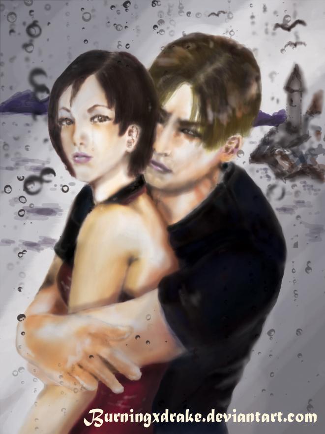 Leon and Ada c by Burningxdrake