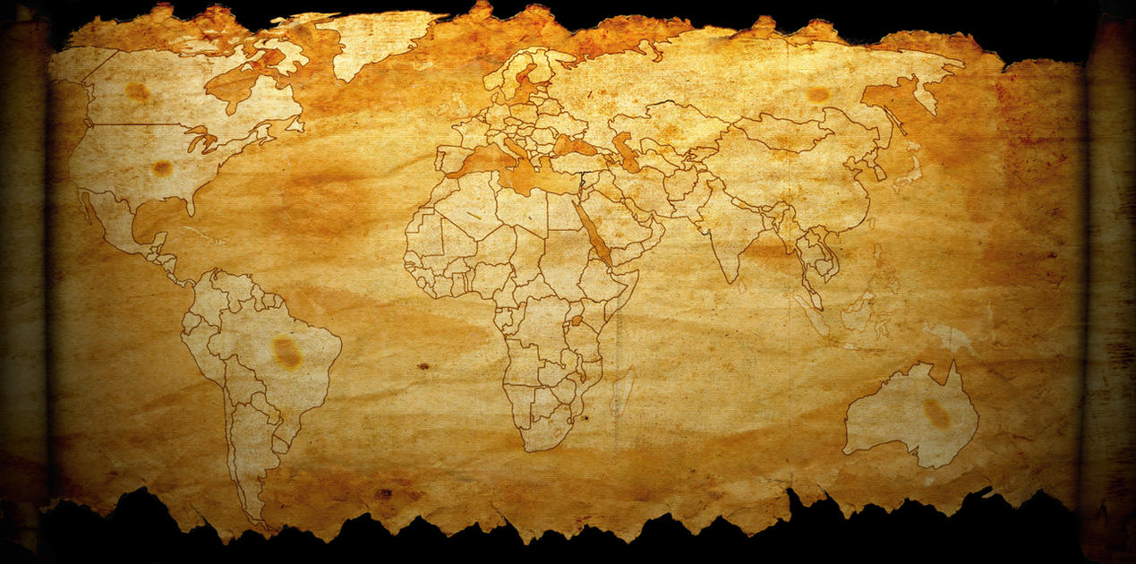 Old-New World Map - Light Effect by Plamber on DeviantArt