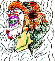 scary girl clown #1 by JeversonLima