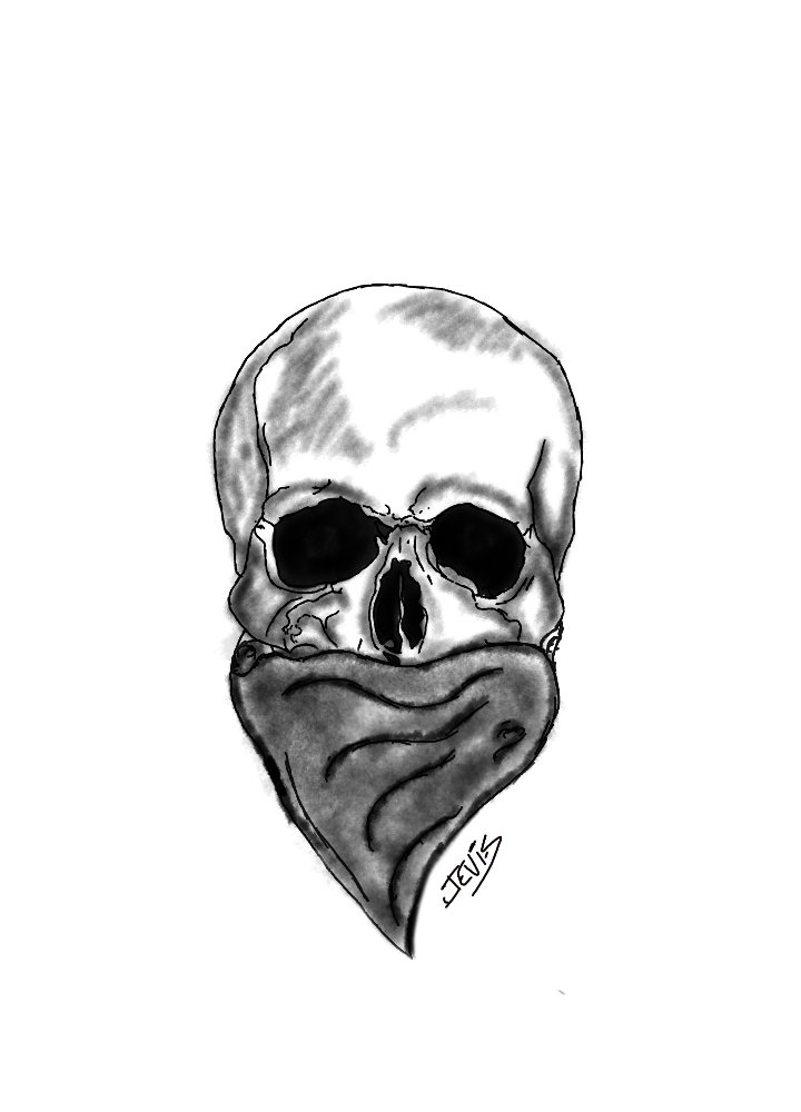 Outlaw Skull Drawing Outlaw skull by jeversonlima Outlaw Cowboy Skull