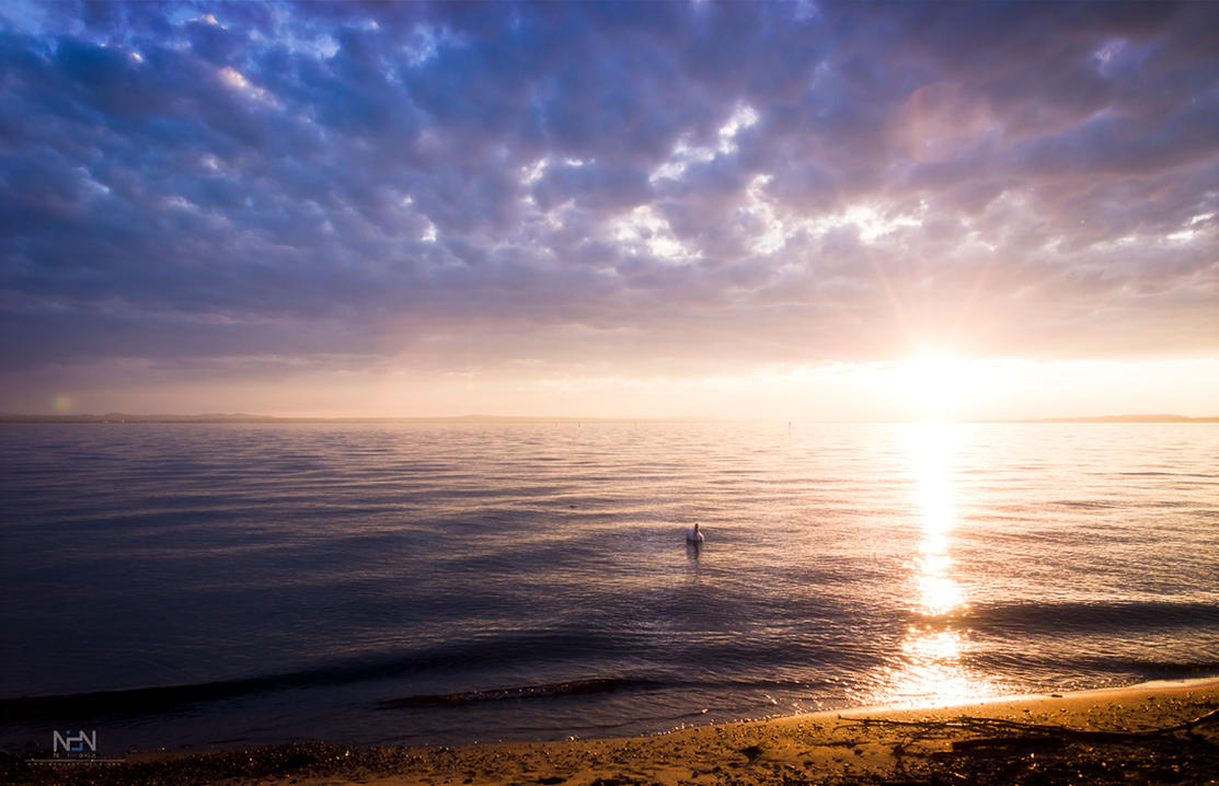 Sunset at Lake Constance by Ni0n