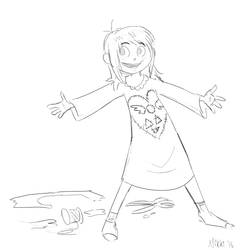Undertale Sketches - Do I Want To Stay Here