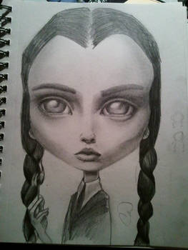Wednesday Addams on paper