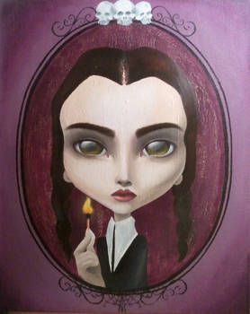 Wednesday Addams painting