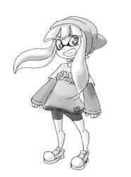 Inkling Girl - Splatoon (Sketch) by balitix