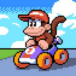 Diddy Kong Racing - Pixel Art by balitix