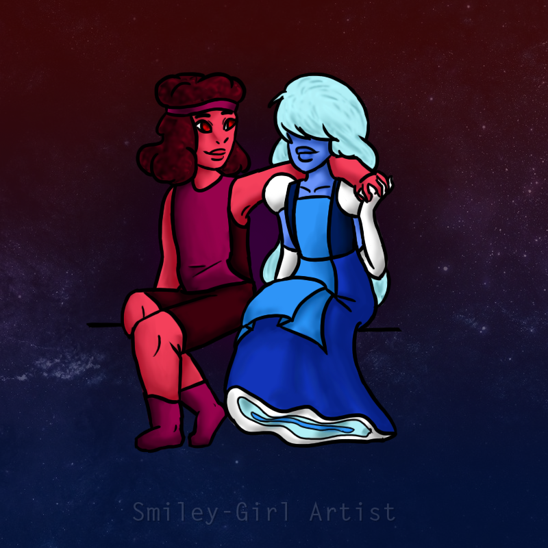 Ruby and sapphire su by lucidfoxe on deviantart - Ruby and sapphire su ...