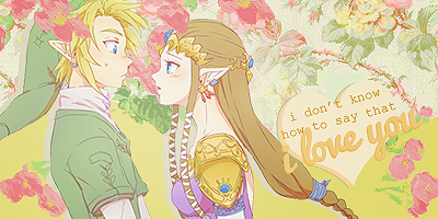 Link and Zelda Signature by CharmingFeeling