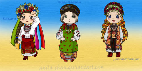 Folk chibies by Anila-chan