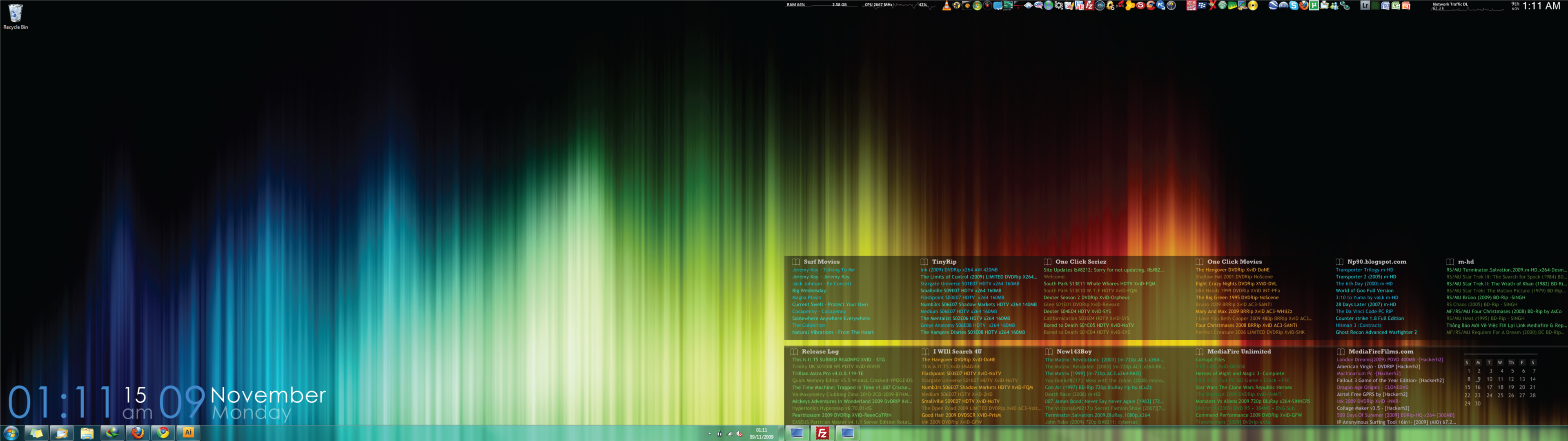 Dual Screen Desktop Windows 7 By Bengatley