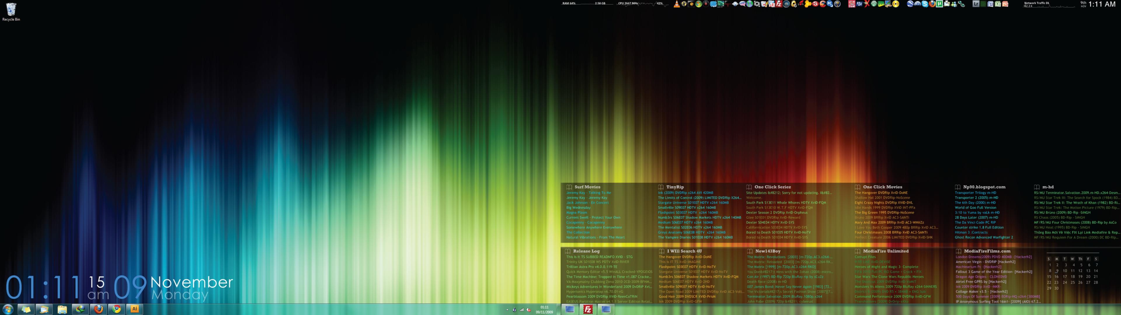 Dual Screen Desktop Windows 7 By Bengatley On Deviantart