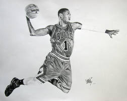 Derrick Rose dunkin' by SMACK0969